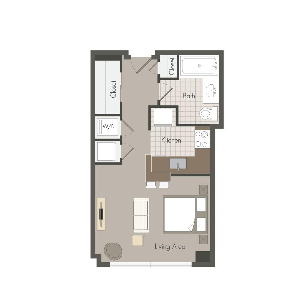 stylish modern washington dc apartments with designer kitchens plan